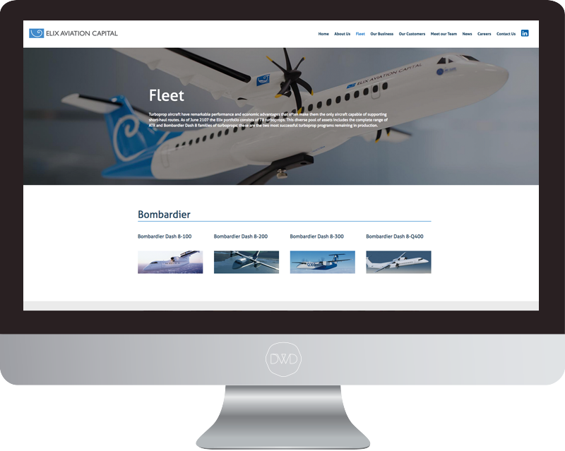 Elix Aviation Capital Homepage